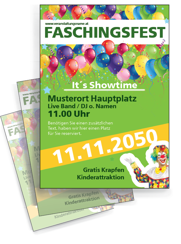 Flyer Faschingsfest