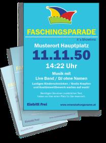 Faschingsfest Karneval Hut Tuerkis