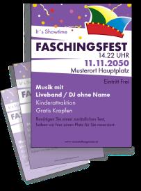 Faschingsfest Konfetti Violett