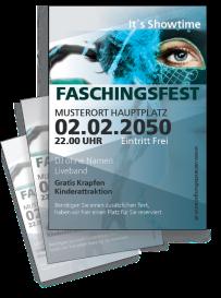 Faschingsfest Maskenparade Blau