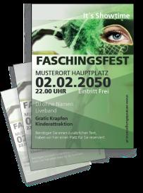 Faschingsfest Maskenparade Gruen