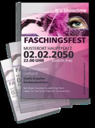 Faschingsfest Maskenparade Violett