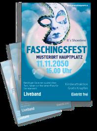 Faschingsfest Venezianische Maske Blau