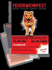 Feuerwehrfest Creative Tiger Rot