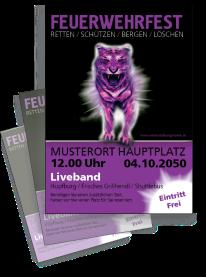 Feuerwehrfest Creative Tiger Violett