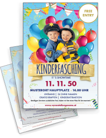 flyer-a4-fasching-kinder-gold-zweiseitig
