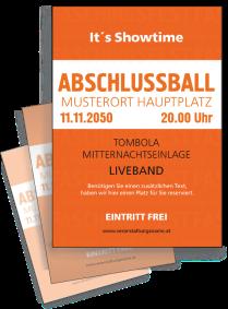 Flyer Abiball Colour A4 Orange