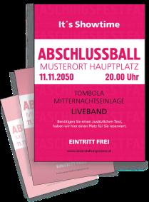 Flyer Abiball Colour A4 Pink