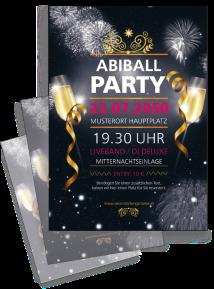 Flyer Abiball Feuerwerk Schwarz A4