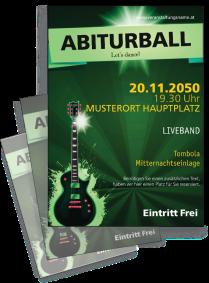 Flyer Abiball Gitarre A4 Gruen