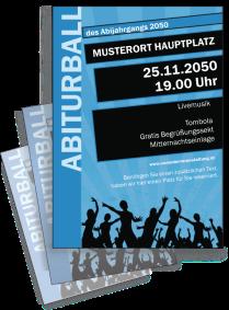 Flyer Abiball Jugend A4 Blau