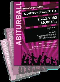 Flyer Abiball Jugend A4 Violett