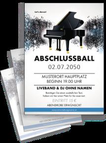 Flyer Abiball Melody Blau A4