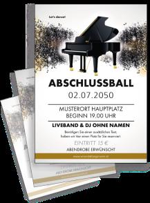 Flyer Abiball Melody Gold A4