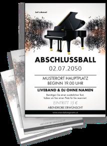 Flyer Abiball Melody Schwarz A4