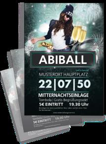 Flyer Abiball Milady Blau A4