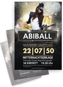 Flyer Abiball Milady Orange A4