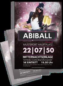 Flyer Abiball Milady Violett A4