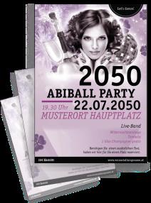 Flyer Abiball Pinup Rosa A4