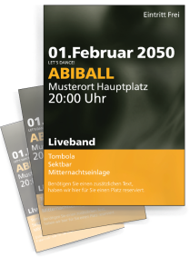 Flyer Abiball Rauch A4 Orange