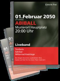Flyer Abiball Rauch A4 Rot