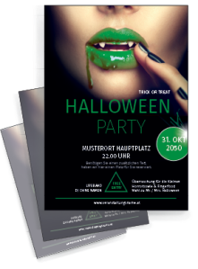 flyer-halloween-lips-gruen-a4