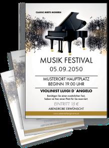 Flyer Musik Melody Braun A4
