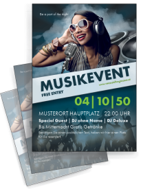 Flyer Musik People Blau A4