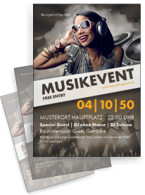 Flyer Musik People Braun A4