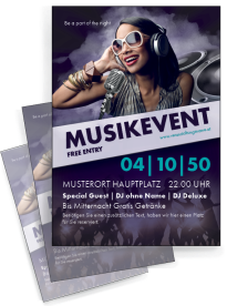 Flyer Musik People Violett A4