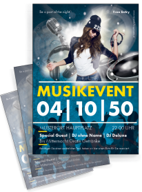 Flyer Musikevent Party Gelb A4