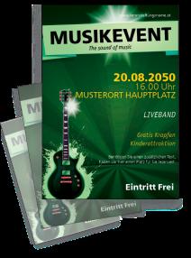 Flyer Musikfest Gitarre Gruen