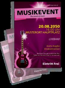Flyer Musikfest Gitarre Violett