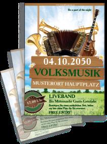 Flyer Musikfest Instrumente Gruen
