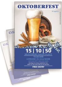 Flyer Oktoberfest Craft Beer A4 Blau