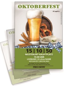 Flyer Oktoberfest Craft Beer A4 Gruen
