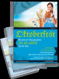 Flyer Oktoberfest Dirndl A4 Blau