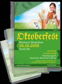 Flyer Oktoberfest Dirndl A4 Gruen
