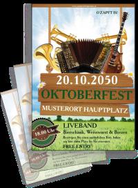 Flyer Oktoberfest Instrumente Gruen
