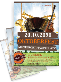 Flyer Oktoberfest Instrumente Orange