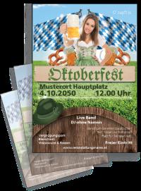 Flyer Oktoberfest Tracht A4 Gruen