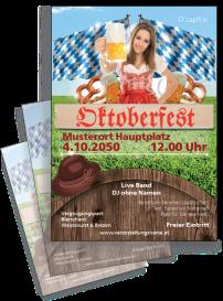 Flyer Oktoberfest Tracht A4 Rot