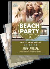 Flyer Sommerfest Hippie Gruen A4 Einseitig