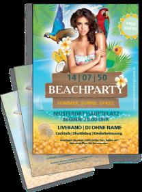 Flyer Sommerfest Meeresbrise A4 Tuerkis Zweiseitig