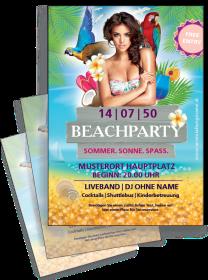 Flyer Sommerfest Meeresbrise A4 Violett Zweiseitig