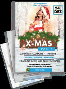 flyer-weihnachten-weihnachtsengerl-blau-a4