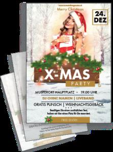 flyer-weihnachten-weihnachtsengerl-gold-a4