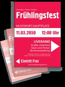 Fruehlingsfest Farben Pink