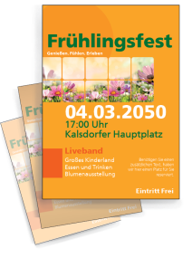 flyer fr hlingsfest flyer. Black Bedroom Furniture Sets. Home Design Ideas