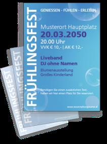 Fruehlingsfest Water Bubbles Blau